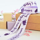 New Baby 25mm Personalised Printed Ribbon
