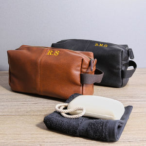 Vintage Style Wash Bag With Toiletries And Towel