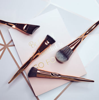 4pc Rose Gold Face Brush Set