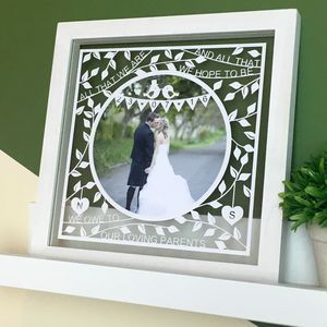 Parents Of The Bride/Groom Personalised Papercut