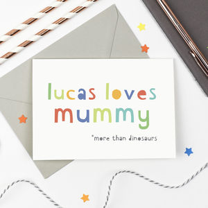 Personalised 'Loves Mummy' Card - shop by category