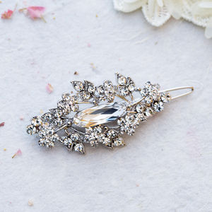 Alexia Crystal Hair Slide - bridal hairpieces
