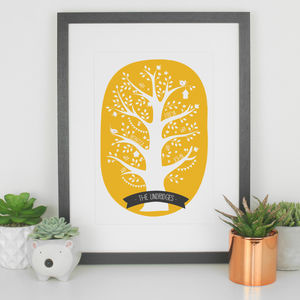 Personalised Family Tree Print Gift For Family - family & home
