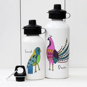 Personalised Bird Water Bottle - gifts for her