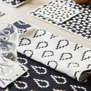 Areaware Set Of Four Bitmap Textiles Napkins