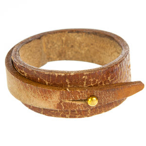 Aatto Mens Leather Wrap Cuff Bracelet