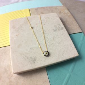 Evil Eye Necklace 22ct Gold Dipped Sterling Silver - necklaces & pendants