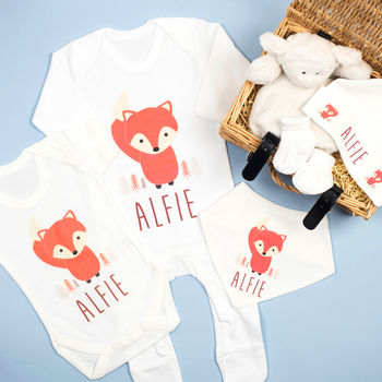 Personalised Baby Fox Hamper
