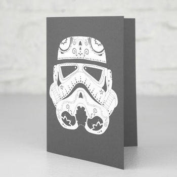 Stormtrooper Candyskull Greetings Card