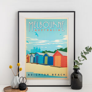 Melbourne Australia Travel Print