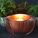 Copper Wire Bowl Candle Holder