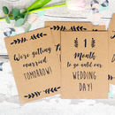 Wedding Countdown And Milestone Cards