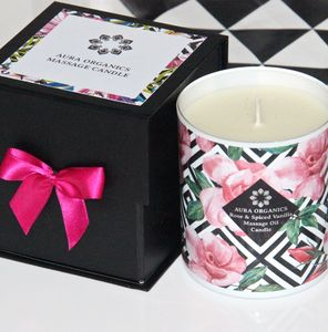 Rose And Spiced Vanilla Massage Oil Candle - massage & aromatherapy