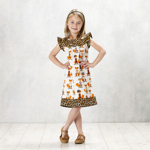 Fabulous Mr Fox Flutter Sleeve Shift Dress