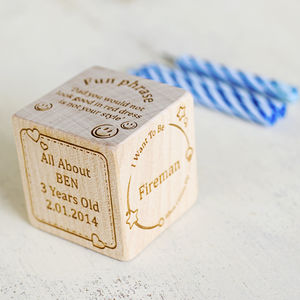 All About Me Personalised Keepsake Block - traditional toys & games