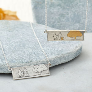Personalised Dog Lovers Family Necklace