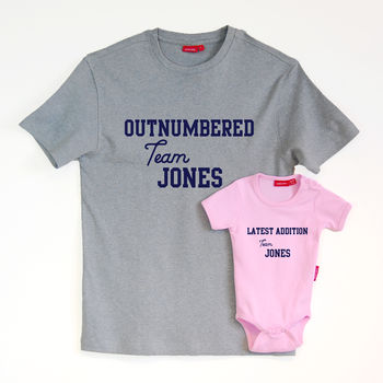 Personalised Outnumbered New Addition Set