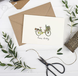 Birthday Bicycle Flower Card - shop by category
