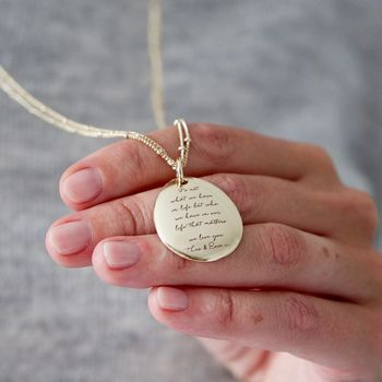 Personalised 'You're Loved' Long Necklace