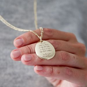 Personalised Large Narrative Necklace On Long Chain - gifts for her