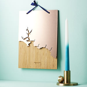 Coastline Wooden And Acrylic Wall Hanging - by year
