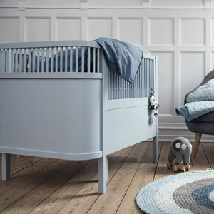 Cloud Blue Baby And Junior Cot Bed - furniture