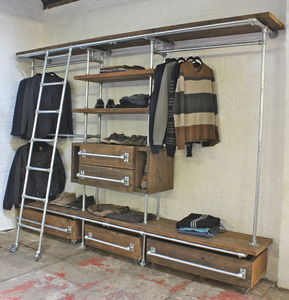 Davis Scaffolding Board Industrial Open Wardrobe - furniture