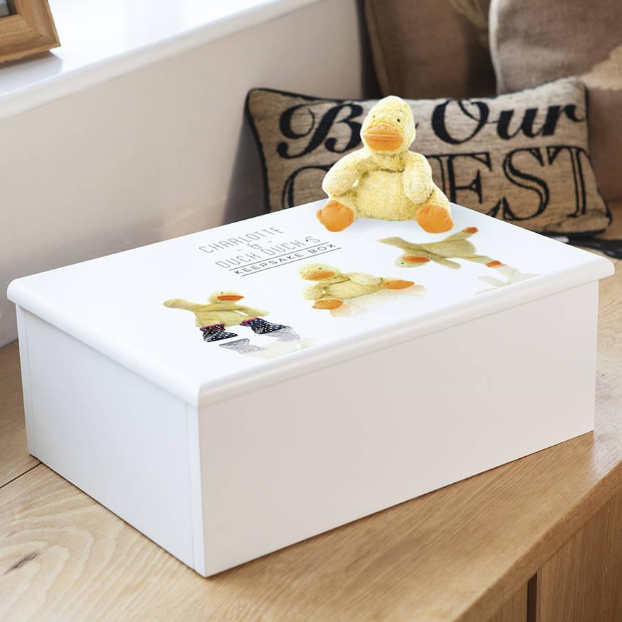 Personalised Keepsake Box Using Your Favourite Teddy