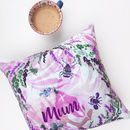 Personalised Lucky Heather Velvet Cushion Cover