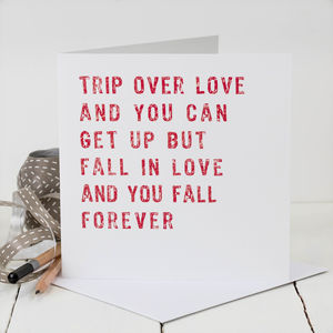Love Card; 'Trip Over Love' - shop by occasion