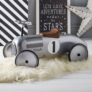 Retro Style Ride On Racing Car In Lots Of Colours - personalised gifts