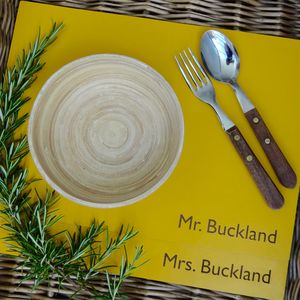 Personalised Leather Placemats