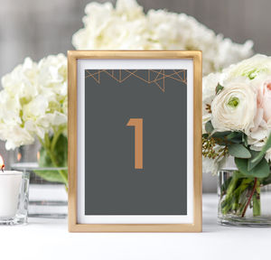 Geometric Table Numbers - table numbers