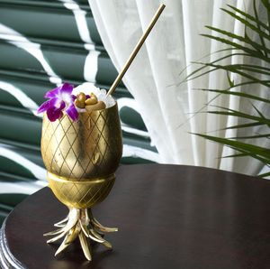 Large Gold Pineapple Tumbler - drink & barware