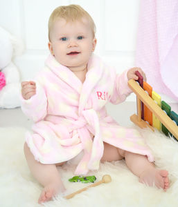 Personalised Polkadot Pink Dressing Gown - personalised gifts