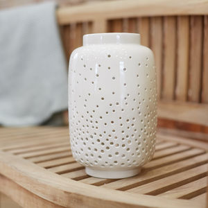 Cream Ceramic Lantern - home accessories