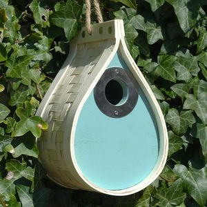 Blue New England Nest Box - bird houses