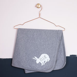 Personalised Rabbit Cotton Baby Blanket