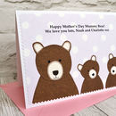 Personalised Mothers Day Card from children or grandchildren by Jenny Arnott Cards