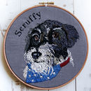 Personalised Embroidered Pet Portrait