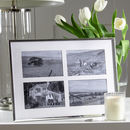 Four Aperture Silver Plated Fine Photo Frame