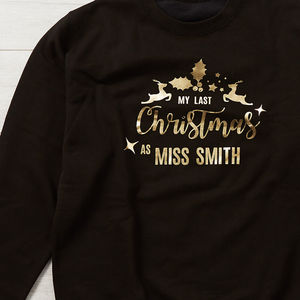 Last Christmas As Miss Personalised Christmas Jumper - christmas jumpers