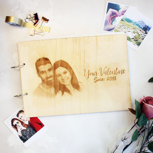 Personalised Anniversary Engraved Photo Album - valentine's gifts for him