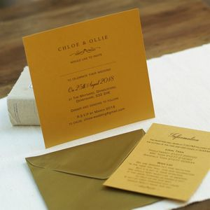Modern Gold Wedding Invitations - invitations