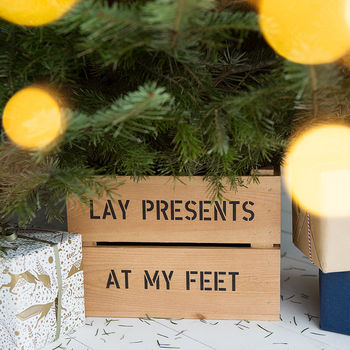 Personalised Christmas Tree Planter Crate