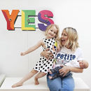 'Yes' Rainbow Sign Wall Light