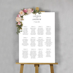 Modern Classic Wedding Table Plan - new in wedding styling