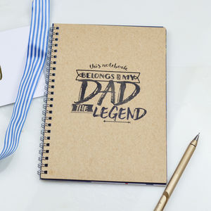 Men's Notebook Gift 'Legend' - gifts for fathers