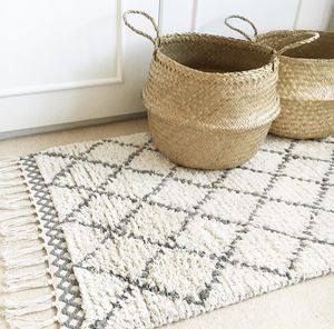 Natural Geometric Berber Rug