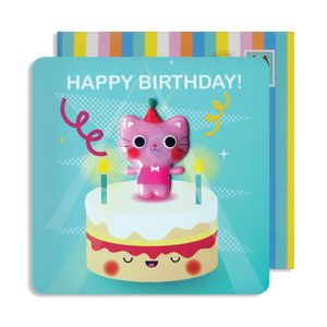 Birthday Cat Jelly Magnet Card